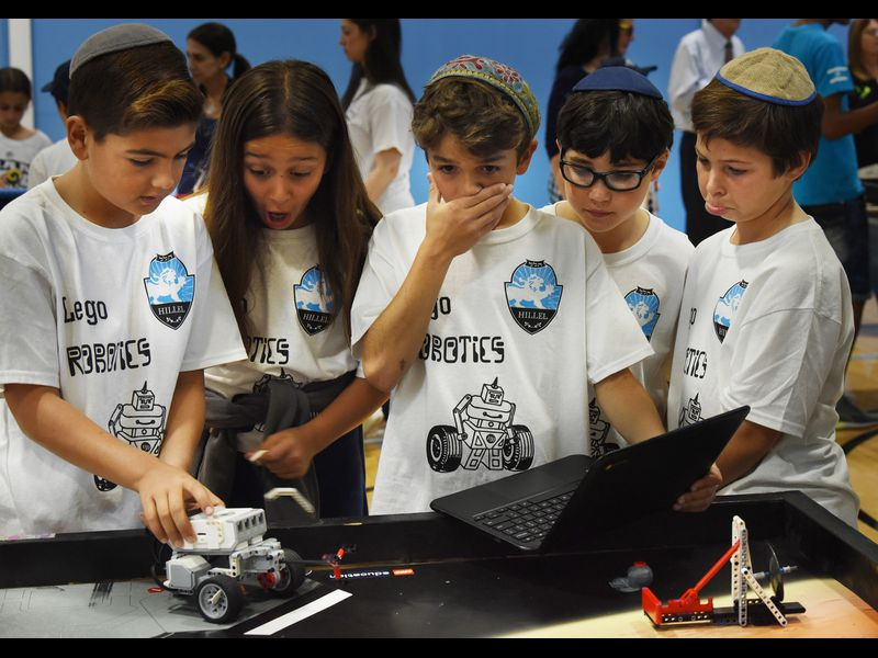 Nine Jewish day schools participate in the Miami Jewish Day School's Second Annual Robotics Festival in North Miami Beach.