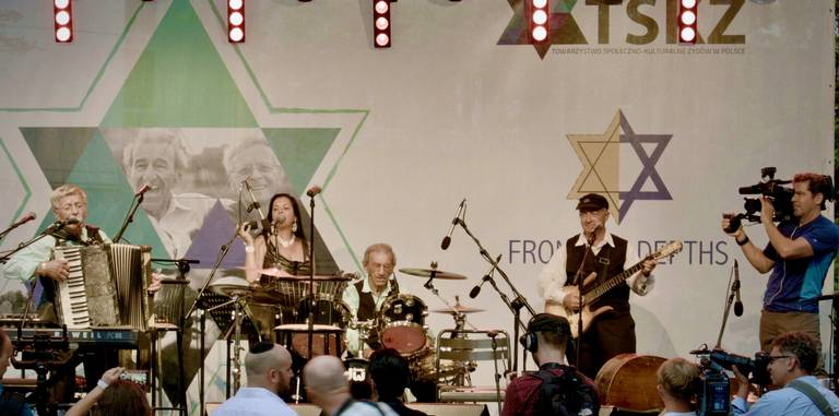 They found friendship through a Holocaust survivor band, which returned to Poland to play