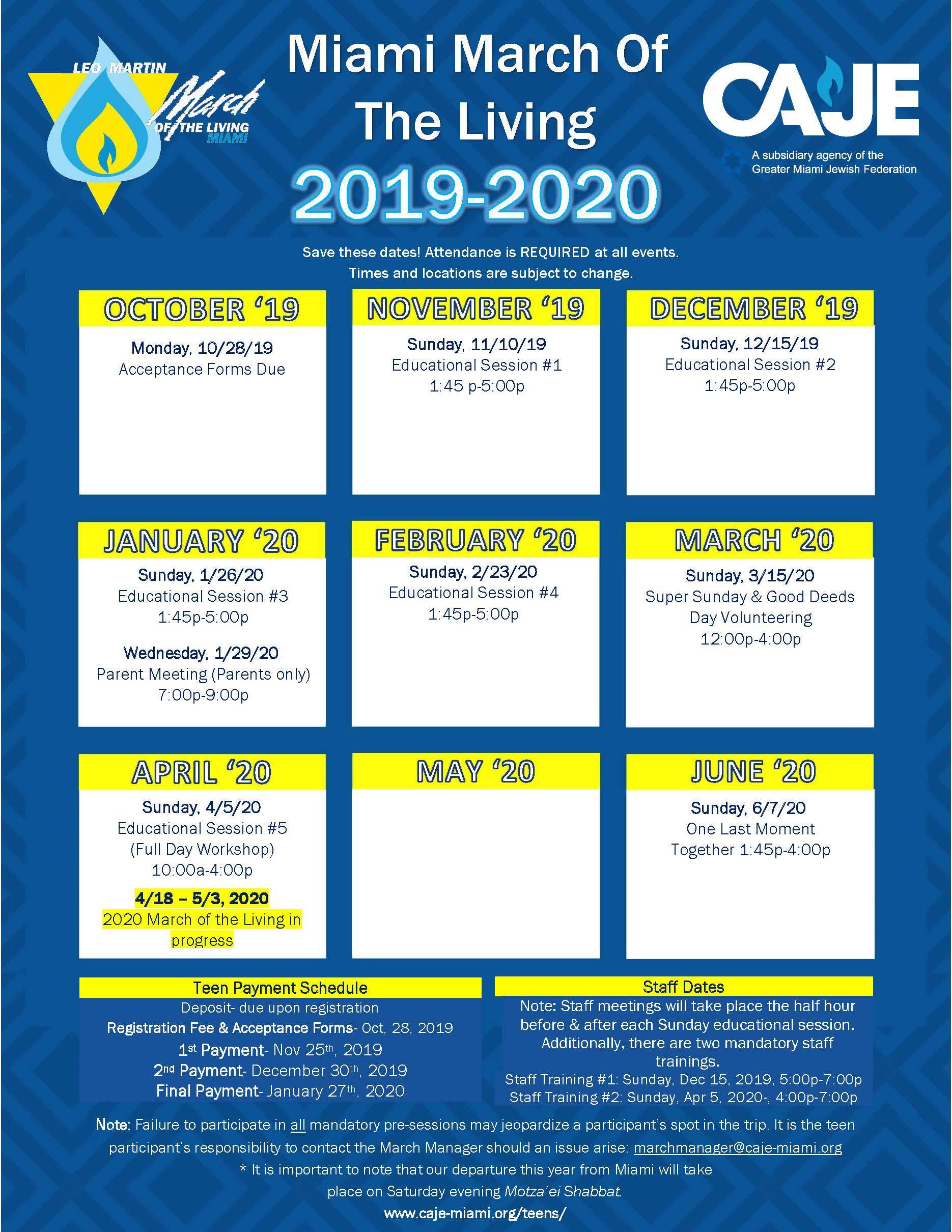Miami Calendar Of Events December 2020 2019 2020 MOTL Event Calendar